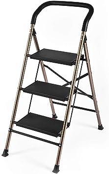 Escaleras Escalera de 3/4, Escalera plegable de acero for trabajo pesado, Taburete con peldaño, Escalera de tijera, Escalera telescópica, Escalera multiusos for la oficina de loft en el hogar, Antides: Amazon.es: Bricolaje