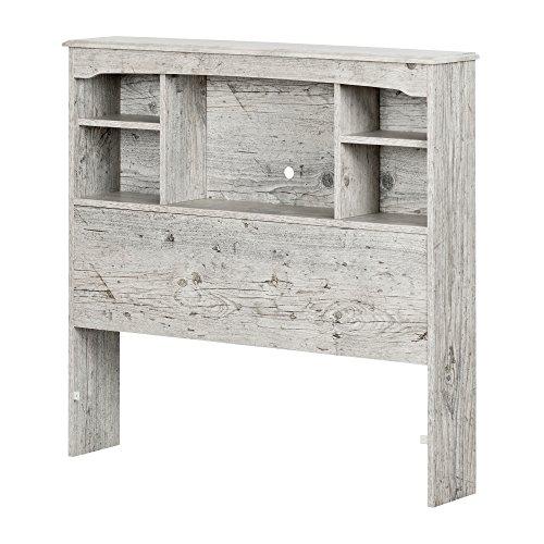 (South Shore 11892 Aviron Bookcase Headboard, Twin, Seaside Pine)