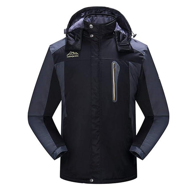 Cálido Chaqueta de Invierno Hombres Vellón Grueso Impermeable Parka Abrigos Outwear Cazadora para Hombre Abrigo Masculino: Amazon.es: Ropa y accesorios
