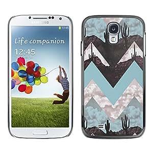 [Neutron-Star] Snap-on Series Teléfono Carcasa Funda Case Caso para Samsung Galaxy S4 [Paisaje Arte Minimalista trullo]
