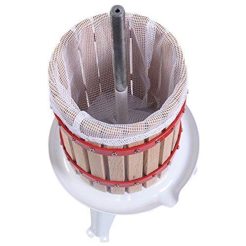 Eminetshop 1.6 Gallon Fruit Wine Making Press Cider Apple Grape Crusher Juice Maker Tool Wood Basket for Kitchen by Eminetshop (Image #4)