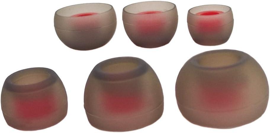 Juego de 6 Piezas THE CASE MARKET Silicona Almohadillas de Repuesto para Auriculares Internos 3 Pares Compatible con la Mayor/ía en el O/ído Marcas Auriculares. SML, Tornado Red