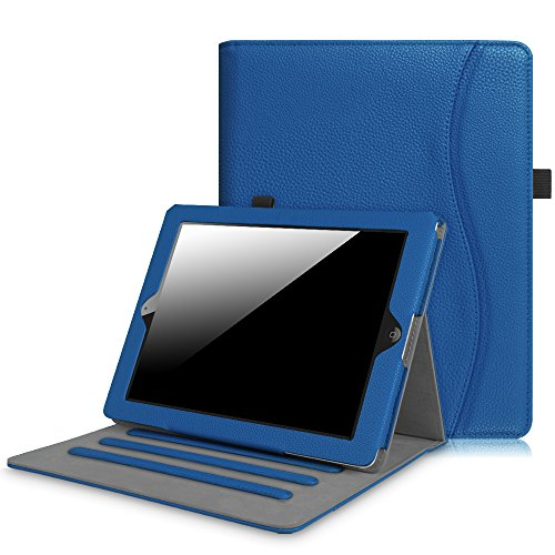 Smart Cover Case for Apple iPad 2/3/4 (Blue) - 1