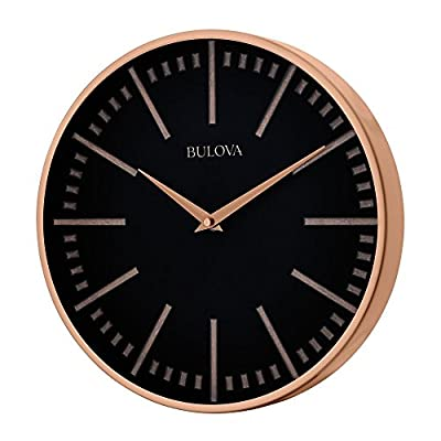 Bulova Copper Classic Wall Clock - Dimensions: 12.5W x 2D x 12.5H in. Sophisticated wall clock Brushed copper metal case - wall-clocks, living-room-decor, living-room - 51TvhX0NSsL. SS400  -
