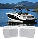 Pair Rockville HP65S 6.5'' Marine Box Speakers with Swivel Bracket For Boats