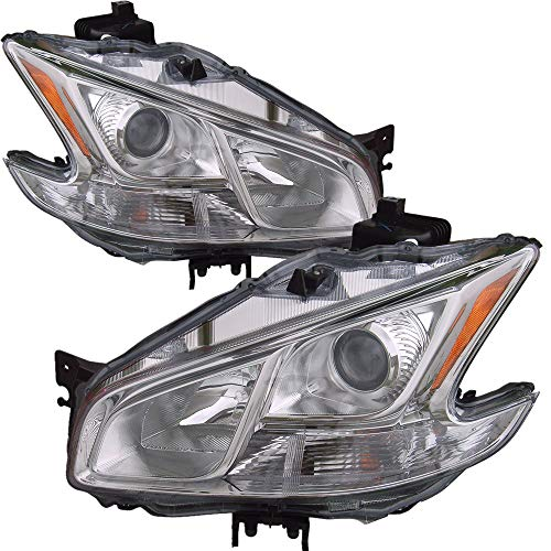 - For 2009 2010 2011 2012 2013 Nissan Maxima Headlight Headlamp Driver Left and Passenger Right Side Pair Set Replacement NI2502177 NI2503177