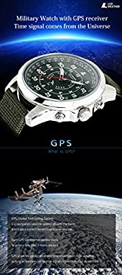 [LAD WEATHER] GPS military Flight Mode 30 Time zones Easy Setting Men's watch