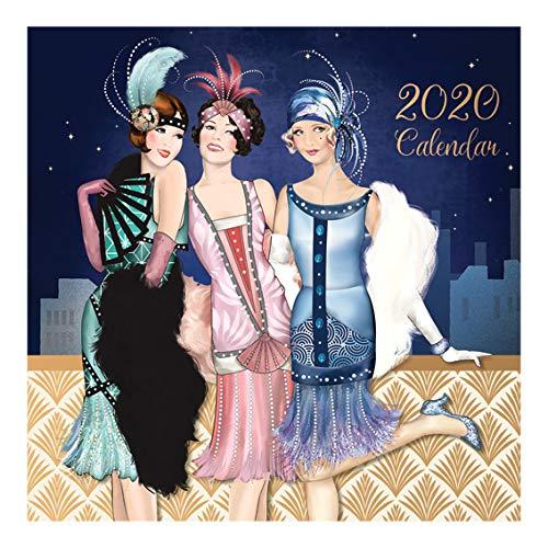 Hse 2020 Calendar Evergreen Goods Ltd 2020 SQUARE CALENDAR   CLAIRE COXON ART DECO