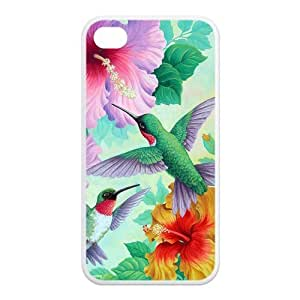 iPhone 4/4S Case, Holly Hummingbird Hard TPU Rubber Snap-on Case for iPhone 4 / 4S
