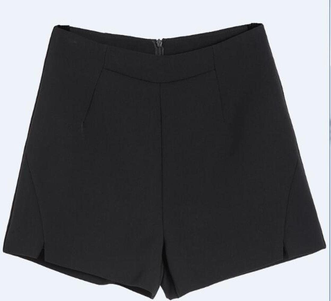 MoMo L/ét/é l/âche l/âche Sauvage Grande Taille Fendue Shorts Jambe Haute Taille Large Un Short de Mot