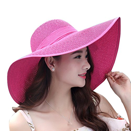 Large Rose Sun Hat - 1