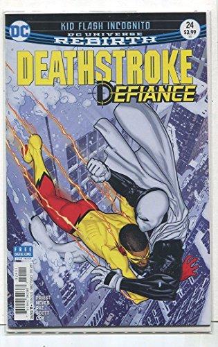 Deathstroke-Defiance #24 NM Rebirth Kid Flash Incognito Cover B DC Comics -