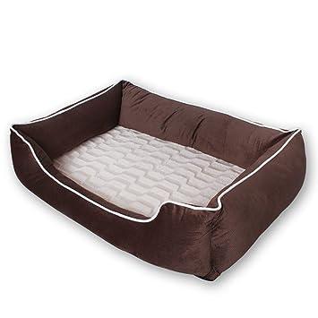 QNMM Cama ortopédica para Mascotas Cama Extremadamente cómoda y Extremadamente cómoda para Perros de Felpa Camas duraderas Lavables para Perros,S: ...