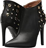 LOVE Moschino Women's Studded Ankle Bootie Stiletto Heel Black/Gold 37 M EU