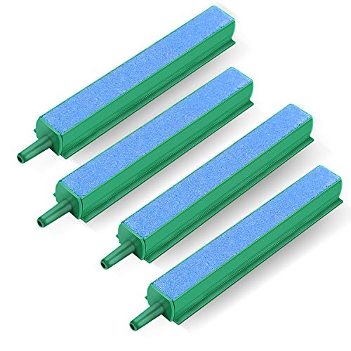 VIVOSUN 4 Inch Air Stone Bar Mineral Bubble Diffuser for Aquarium Fish Tank and Hydroponic System Pack of 4 (Textured Bubbles)