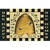 Bee Happy Bee Home Floor Mat