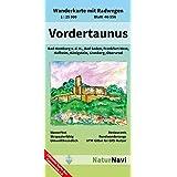 Vordertaunus: Wanderkarte mit Radwegen, Blatt 46-556, 1 : 25 000, Bad Homburg v.d.H., Bad Soden, Frankfurt West, Hofheim, Königstein, Kronberg, Oberursel (NaturNavi Wanderkarte mit Radwegen 1:25 000)