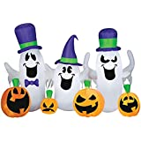 Halloween 9 Foot Lighted Blow Up Inflatable Ghosts and Pumpkins - Outdoor Yard Decoration