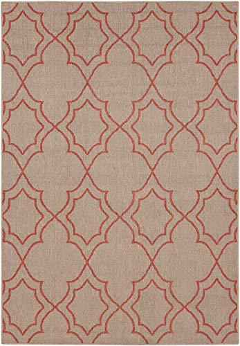 - Sonestown Trellis Indoor Outdoor 6' x 9' Rectangle Indoor/Outdoor 100% Olefin Camel/Rust Area Rug