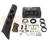 GlowShift 98-02 Dodge Ram w/ A-Pillar Speaker Diesel Gauge Package w/ Black 7 Color 60 PSI Boost, 2400 EGT & Trans Temp Gauges by GlowShift