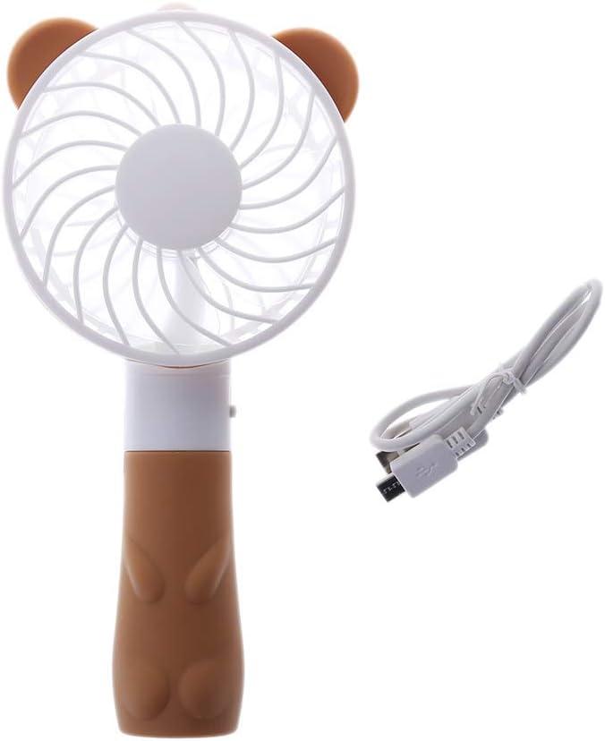 Ycncixwd Ventilador de mano portátil, funciona con pilas