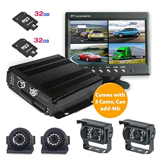 720P MDVR 4 Cam DVR System, 7 inch LCD