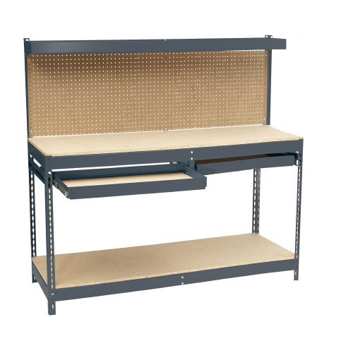 72in Workbench (Edsal MRWB-6 Heavy Duty 16 Gauge Steel Workbench, 72