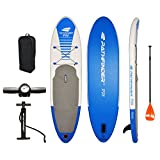 Vilano PathFinder SUP 10-Feet (5-Inch Thick) Inflatable Stand Up Paddleboard Set Blue