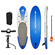 #LightningDeal Pathfinder Inflatable SUP Stand Up Paddle Board, Complete KIT: Board, Fin, Pump, Paddle, Carry Bag