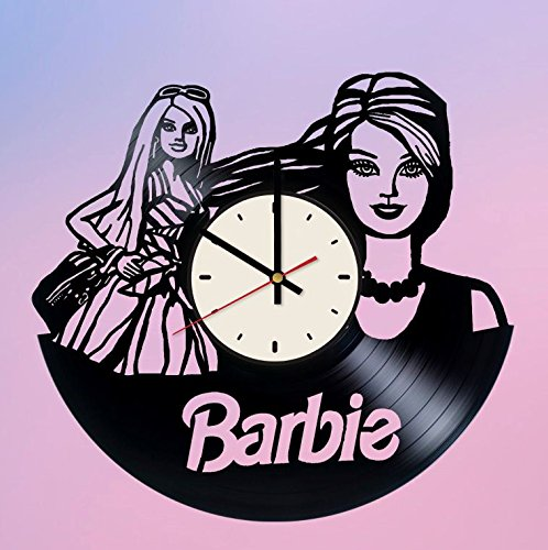 Barbie Doll Vinyl Wall Clock Girls Unique Gifts Living Room Home Decor by Wall Gifts