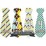 Months in Motion 707 Monthly Baby Stickers Necktie Tie...