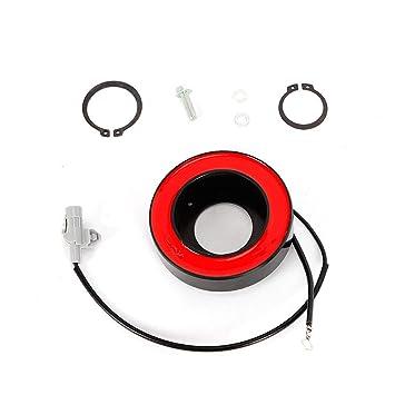 Z&Y 1x aire acondicionado compresor solenoide con enchufe para DENSO B M W 6SBU14C 7SBU17C Compresor de aire
