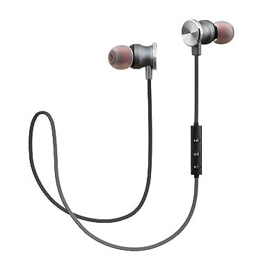 woozik N900 magnético Sport - Auriculares inalámbricos con Bluetooth 4.2, construido en micrófono y sonido