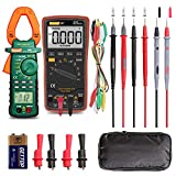 Auto Ranging Digital Multimeter and Clamp Meter - with Storage Bag Battery Alligator