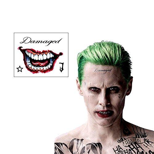SS Joker / Mr. J Face & Hand Temporary Tattoos