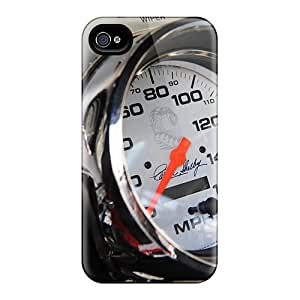 Iphone 4/4s Case Cover - Slim Fit Tpu Protector Shock Absorbent Case (1967 Mustang Fastback Shelby Gt 500)