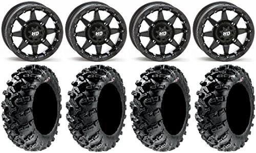 Bundle - 9 Items: STI HD5 14'' Beadlock MB Wheels 30'' Grim Reaper Tires [4x137 Bolt Pattern 10mmx1.25 Lug Kit] by Powersports Bundle