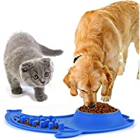 2 Count Ruipower Large Dog Bowls with No Spill and Non-Skid Silicone Mat