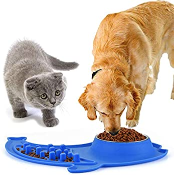 2 Ct Ruipower Large Dog Bowls with No Spill and Non-Skid Silicone Mat