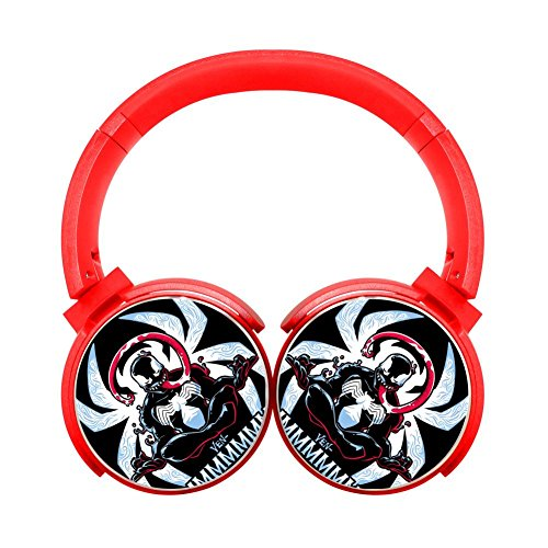 (Ven-Ommm Multicolor Folding Design Wireless Bluetooth Headphones Style With Mic Over Ear, Headsets For Iphone, Ipad, Smartphone And Tv, 3.5Mm Plug Red)