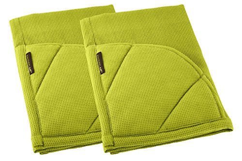 Rachael Ray Multifunctional 2-in-1 Moppine, Ultra Absorbent Kitchen Towel & Heat Resistant Pot Holder Celery Green (Pack of - Green Ray Ray