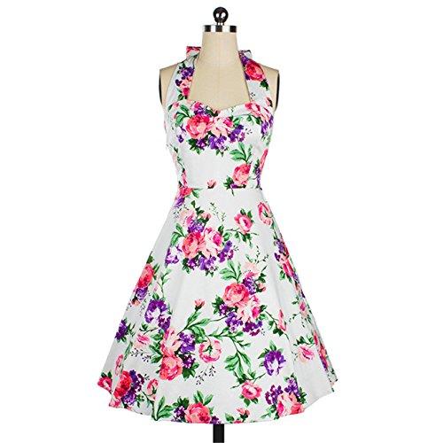 iHAIPI Damen Retro Vintage Kleid Abend Party 50er Jahre Stil ...