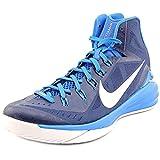Mens Nike Hyperdunk 2014 TB Basketball Shoe Midnight Navy/Photo Blue/White/Metallic Silver Size 14 M US
