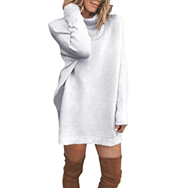 Robe pull col roule amazon