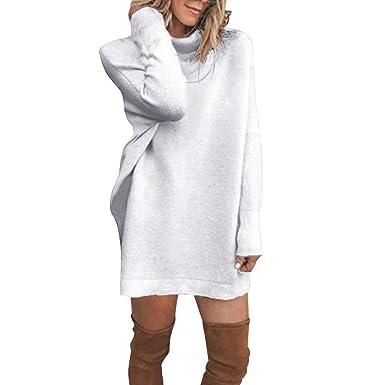 ac99840b5fa4 Robe Pull Col Roulé Femme
