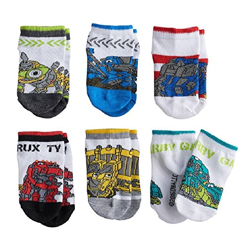 Dinotrux Little Boys' 6 Pack Low Cut Socks