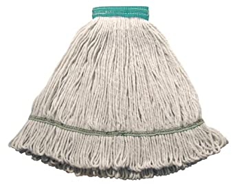 """Wilen A01102, Hospital Pro M Antimicrobial Wet Mop, Medium, 5"""" Mesh Band, White (Case of 12)"""