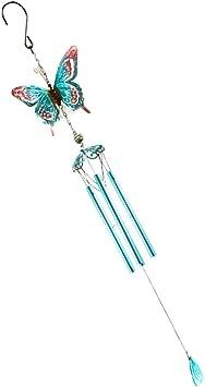 Schmetterling MagiDeal Metall Windspiel Klandspiel mit Rohren f/ür Garten Balkon Ornament