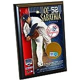 MLB New York Yankees CC Sabathia 4-by-6-Inch Dirt Plaque