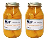 Amish Old Fasioned Peach Halves - TWO - 32 Oz Jar